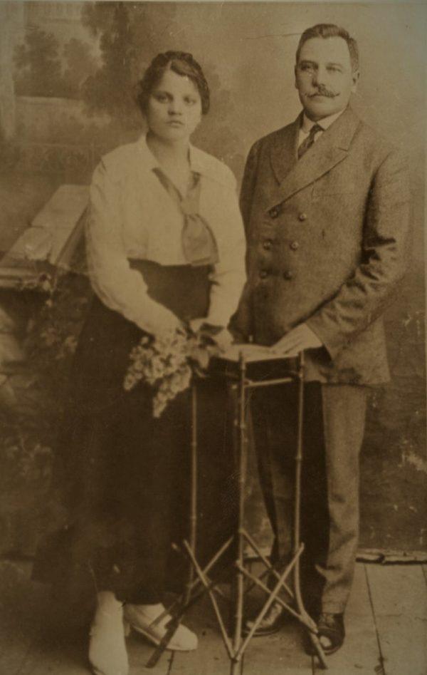 Povilas Garmus su žmona Marija