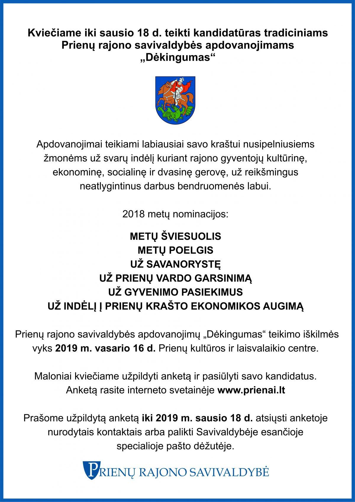Skelbimas - DEKINGUMAS 2018 - A3